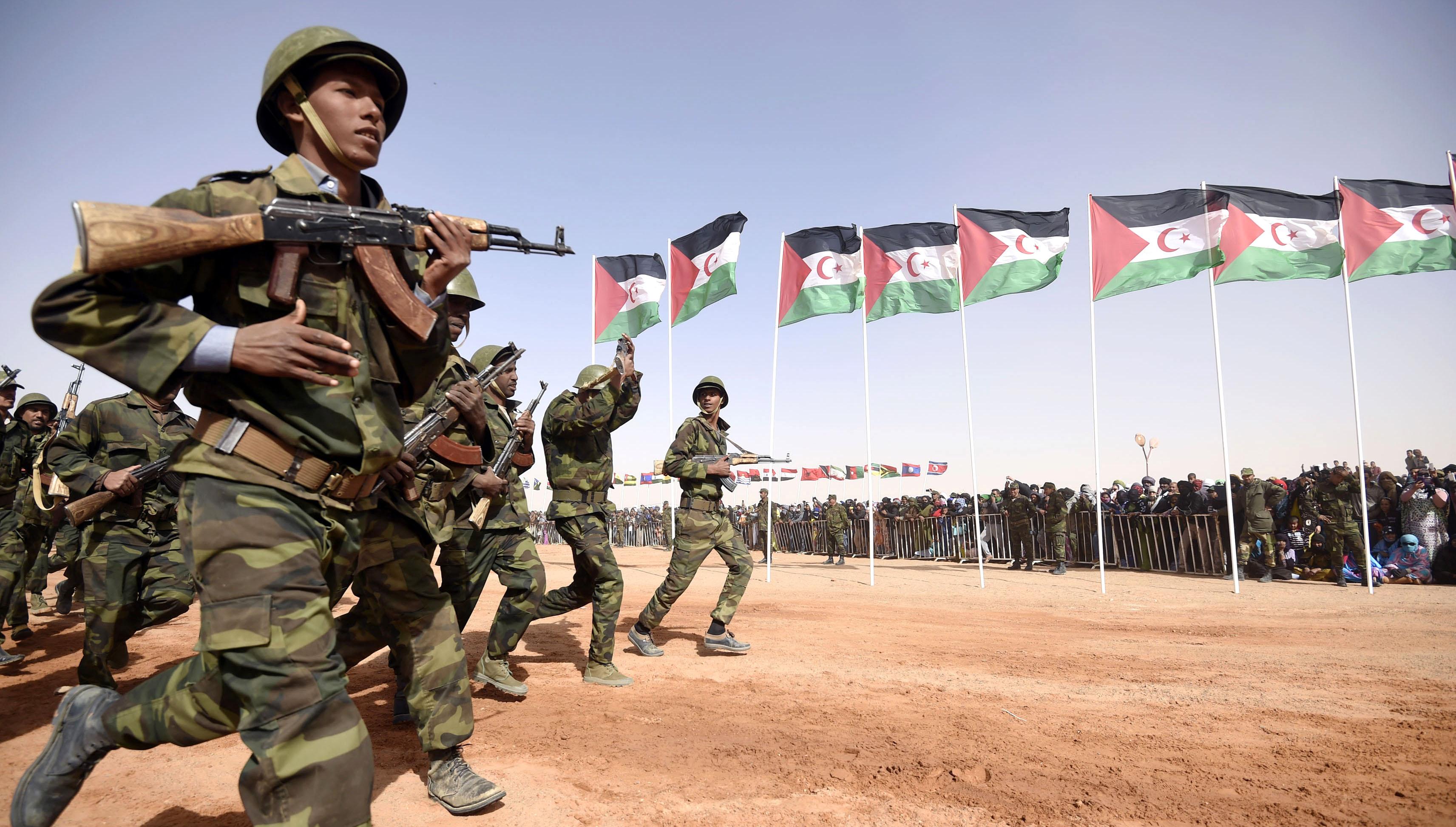 """صورة طبول الحرب.. جيش البوليسارو يستنفر..""""دقت ساعة الحسم"""" ضد المغرب- شاهد"""