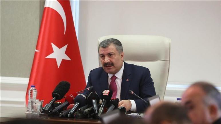 صورة وزير الصحة التركي يزف الخبر المنتظر