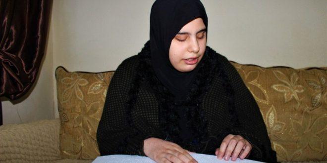 صورة شاهد بالفيديو : الإعلام التركي يحتفي بفتاة سورية كفيفة حفظت القرآن الكريم في نصف عام فقط