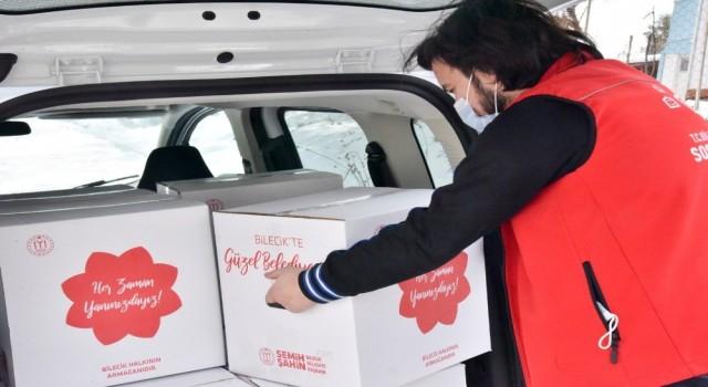 صورة من جديد بلدية تركية تقدم المساعدات الغذائية للأسر المحتاجة في جميع أنحاء المدينة (صور)