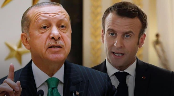 صورة أردوغان يلقن ماكرون درسا قاسيا