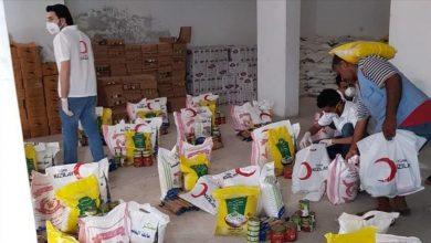صورة بمناسبة شهر رمضان المبارك سلل غذائية ومساعدات مالية مخصصة للسوريين