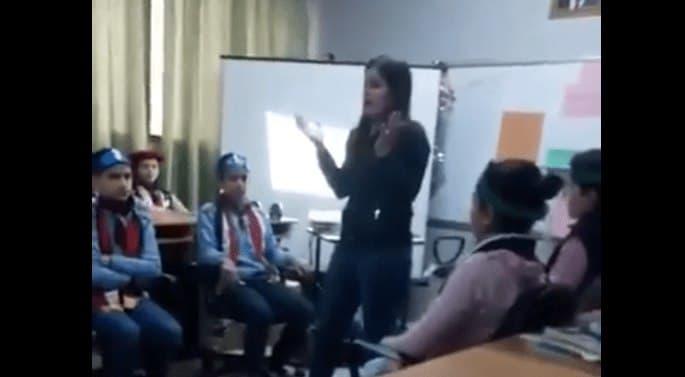 صورة أسـ.ـوأ ما يمكن أن تشاهده في سوريا معلمة مستفزة (فيديو)