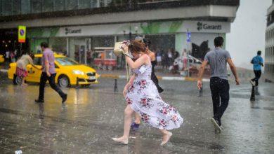 صورة الأرصاد الجوية: أمطار متوقعة في العديد من المدن