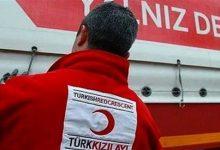 صورة الهلال الأحمر التركي يوزّع مساعدات بمناسبة العيد على عائلات سورية