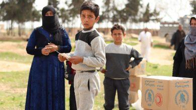 صورة مساعدات من الأمم المتحدة للسوريين
