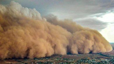 صورة عاصفة غبارية مصدرها سوريا باتجاه تركيا… والأرصاد الجوية تحذر