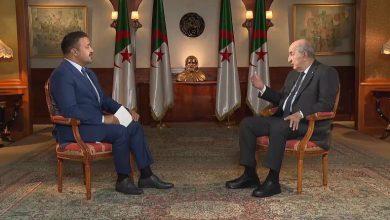 """صورة أول مقابلة مع رئيس جزائري.. من الصـ.ـحراء إلى فلسطين.. ماذا قال """"تبون""""؟ فيديو"""