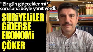 صورة مستشار أردوغان (أكتاي): تصريح هام بشأن السوريين في تركيا