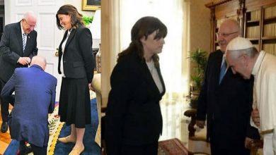 صورة قصة المـ.ـرأة الإسرائيلية التي جـ.ـثا وركـ.ـع الرئيس الأمريكي أمـ.ـامها